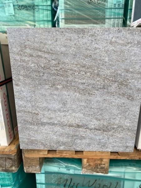 Feinsteinzeug KeramikTerrassenplatte Outdoor 60x60x2 cm Barge (Quarz) 303621