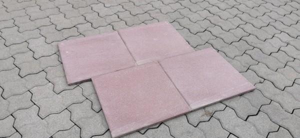 2. Wahl Betonplatte 40x40x1,9 cm die Leichte NUR 19 mm stark porphyr (rot)