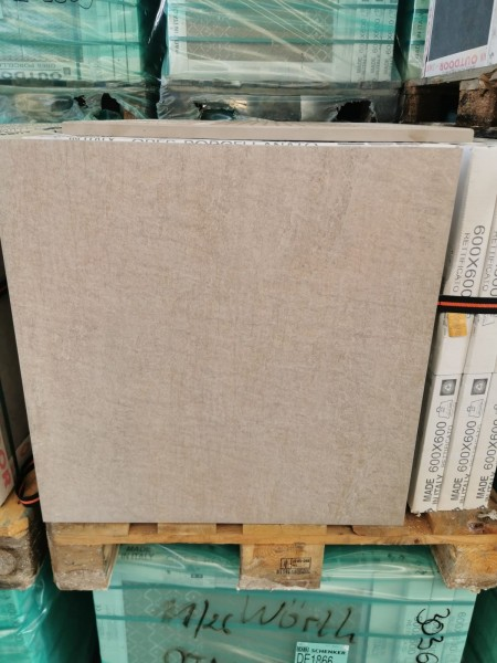 Feinsteinzeug Keramik Terrassenplatte Outdoor 60x60x2 cm beige 303569