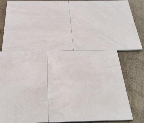 Feinsteinzeug Keramik Terrassenplatte Outdoor 60x60x2 cm Aspen Bianco # 4151